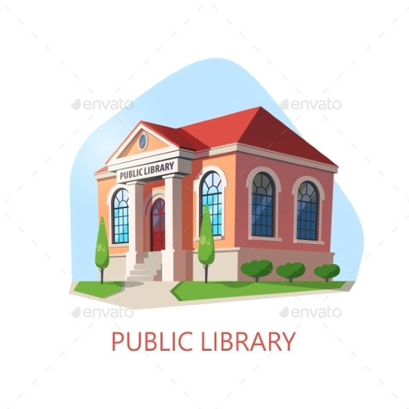 Public Library Building, Construction for Reading - Buildings Objects