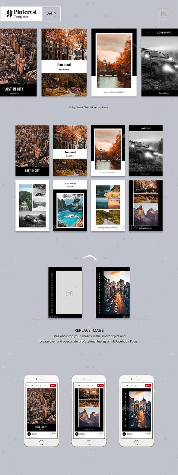 Pinterest Templates Vol. 2 - Social Media Web Elements