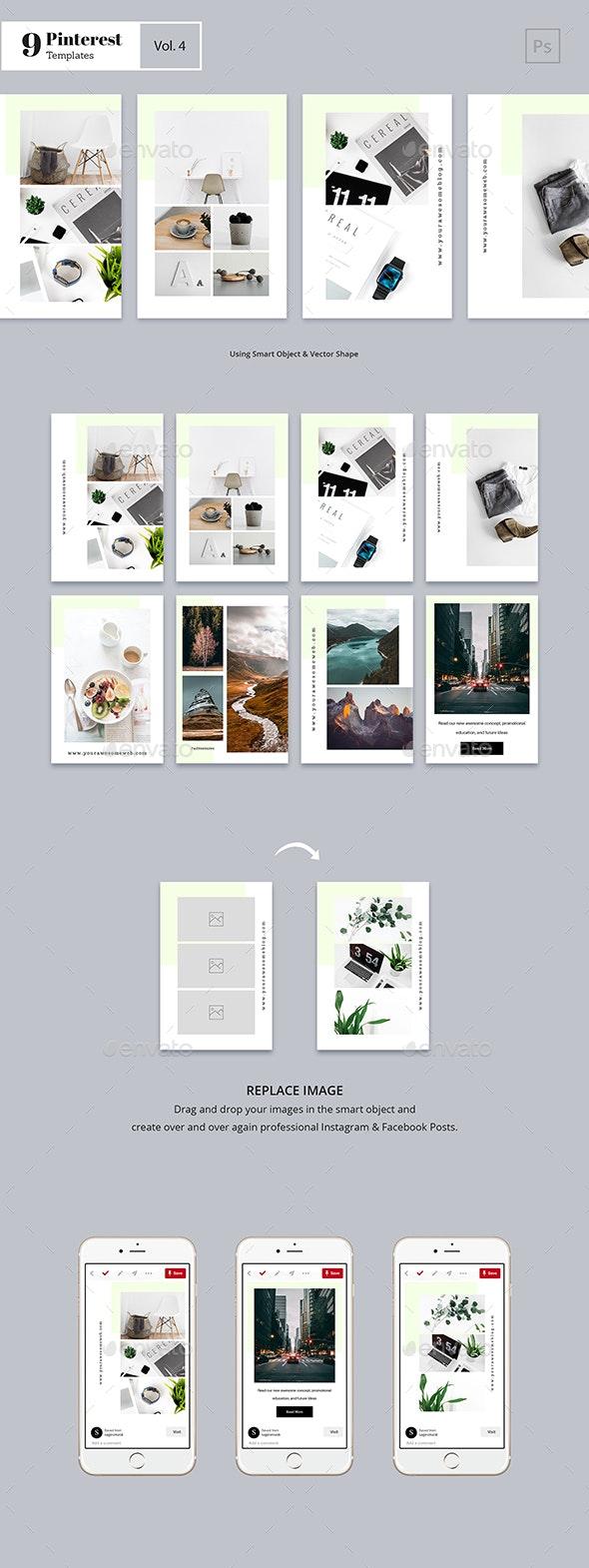 Pinterest Templates Vol. 4 - Social Media Web Elements