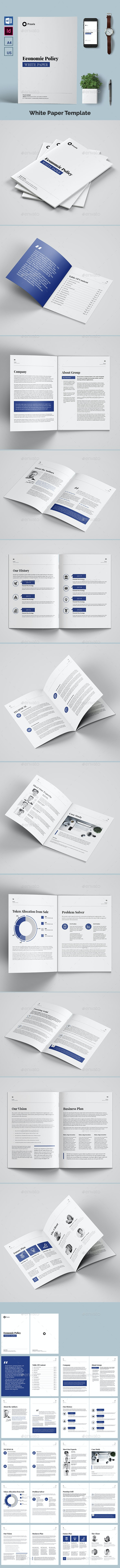 White Paper Template - Brochures Print Templates