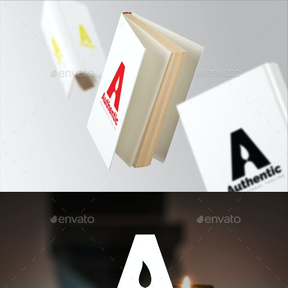 Letter A - Negative Space Candle