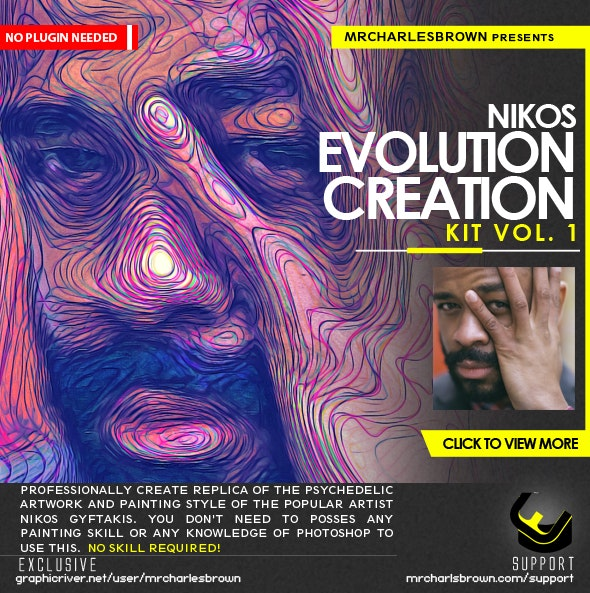 Nikos Evolution Creation Kit - Photo Effects Actions