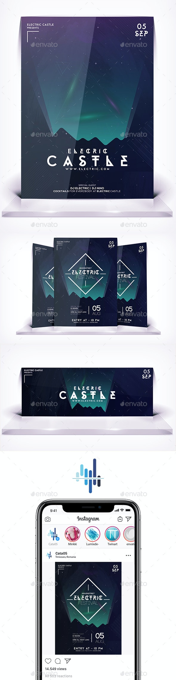 Electric Castle Flyer - Events Flyers