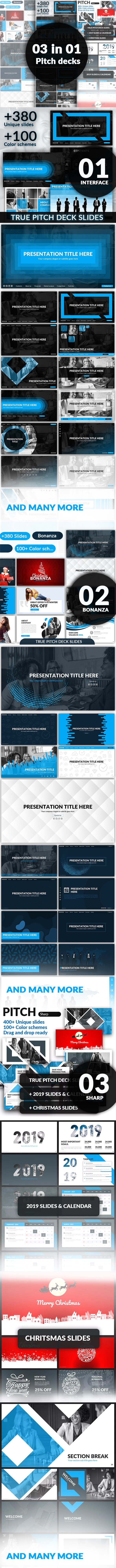 03 in 01 - Pitch Deck Bundle - Business PowerPoint Templates