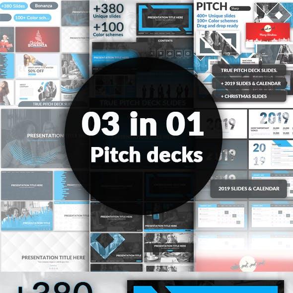 03 in 01 - Google Slides Pitch Deck Bundle