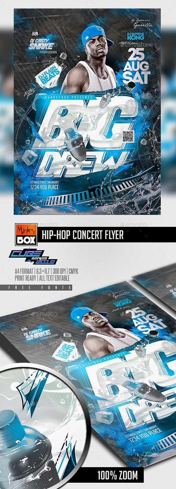 Hip-Hop Concert Flyer - Clubs & Parties Events