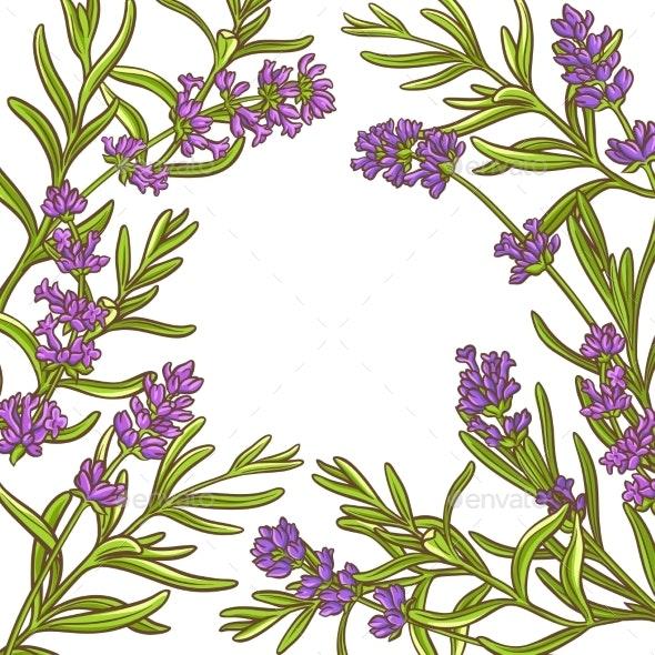 Lavender Plant Vector Frame - Health/Medicine Conceptual