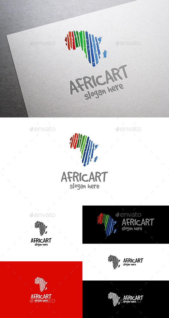 Africa Art Colorful Africa Map in a Grunge Style - Vector Abstract