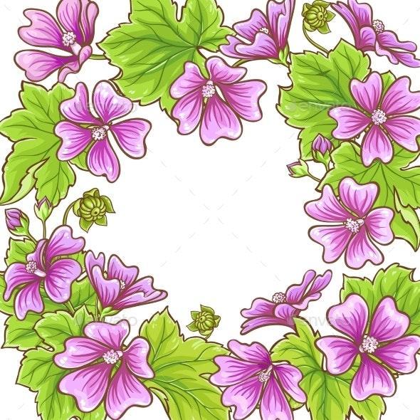 Malva Vector Frame - Flowers & Plants Nature