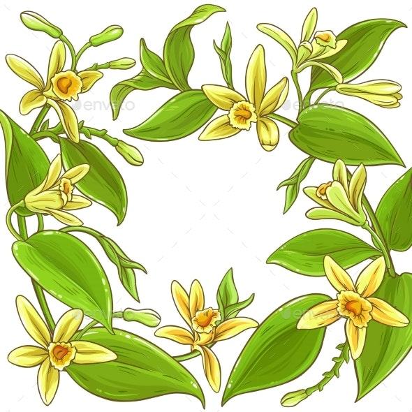 Vanilla Vector Frame - Flowers & Plants Nature