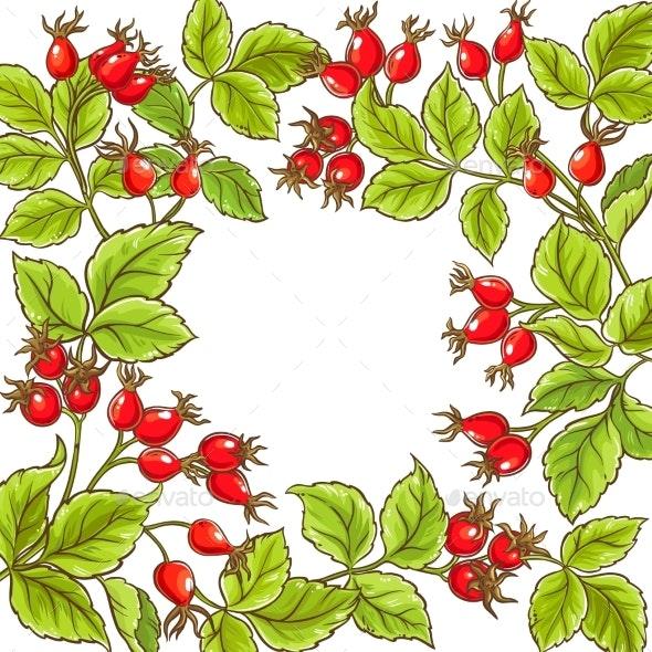 Wild Rose Vector Frame - Health/Medicine Conceptual