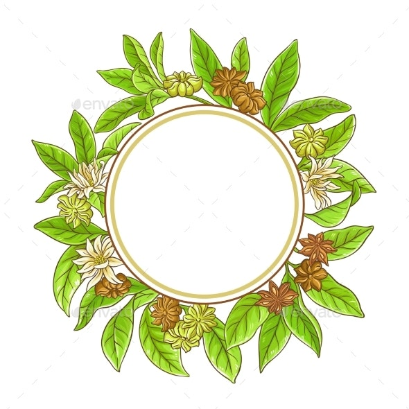 Anise Branches Frame - Food Objects