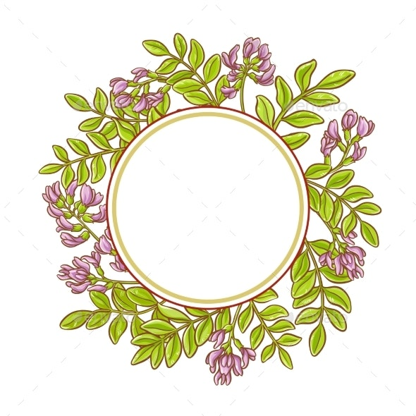 Astragalus Vector Frame - Flowers & Plants Nature