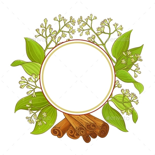 Cinnamon  Vector Frame - Flowers & Plants Nature