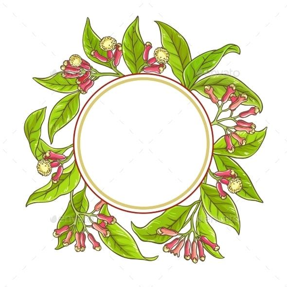 Clove  Branch  Vector Frame - Health/Medicine Conceptual