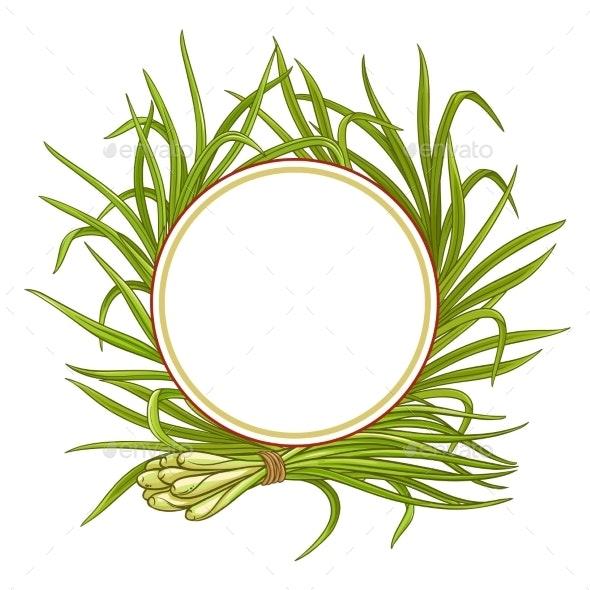 Lemongrass  Plant Vector Frame - Food Objects