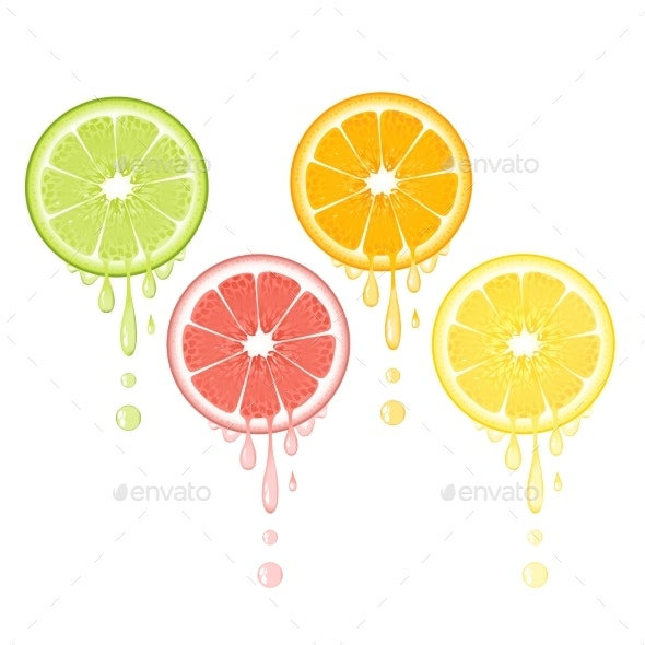 Citrus Drops - Food Objects