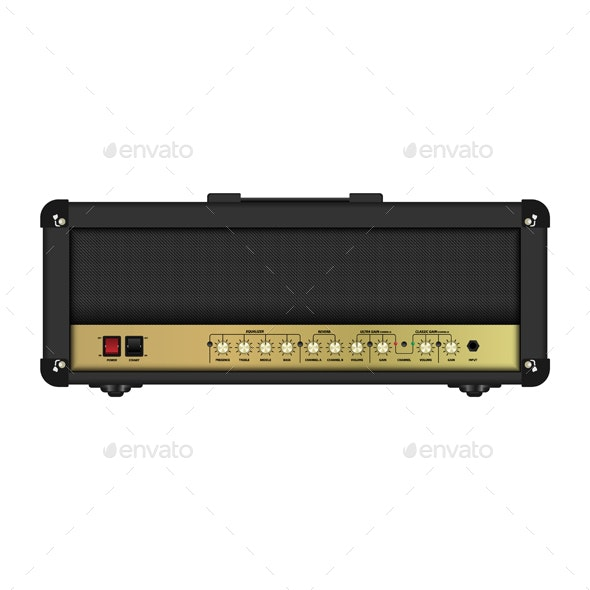 Realistic Classic Guitar Amplifier Head - Miscellaneous Vectors