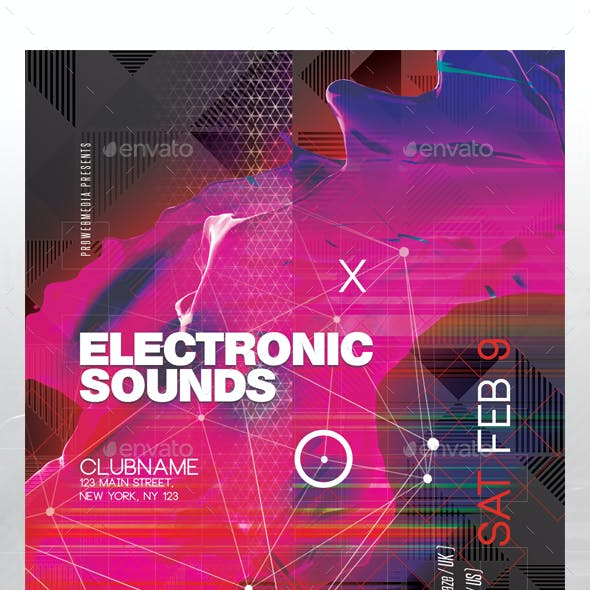 Electronic Music Club Flyer
