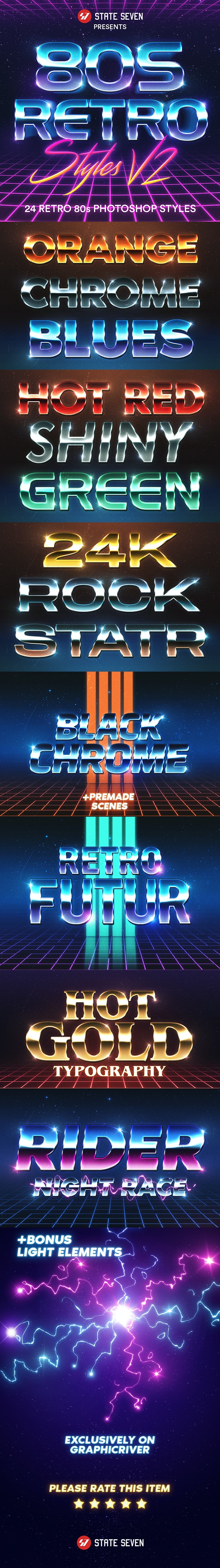 80s Style text effect V2 - Text Effects Styles