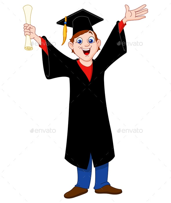 Graduated Boy - People Characters