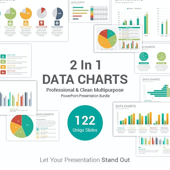 2 In 1 Data Charts PowerPoint Templates Bundle