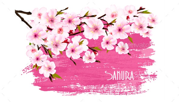 Spring Nature Background With Sakura Branch - Flowers & Plants Nature