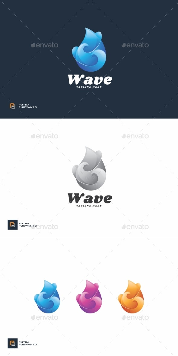 Wave Droplet - Logo Template - Abstract Logo Templates