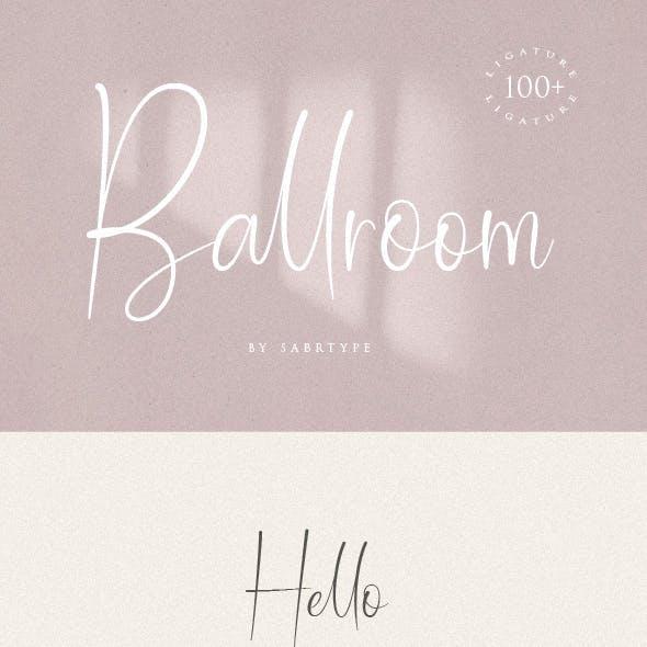 Ballroom Font With 100+ Ligatur