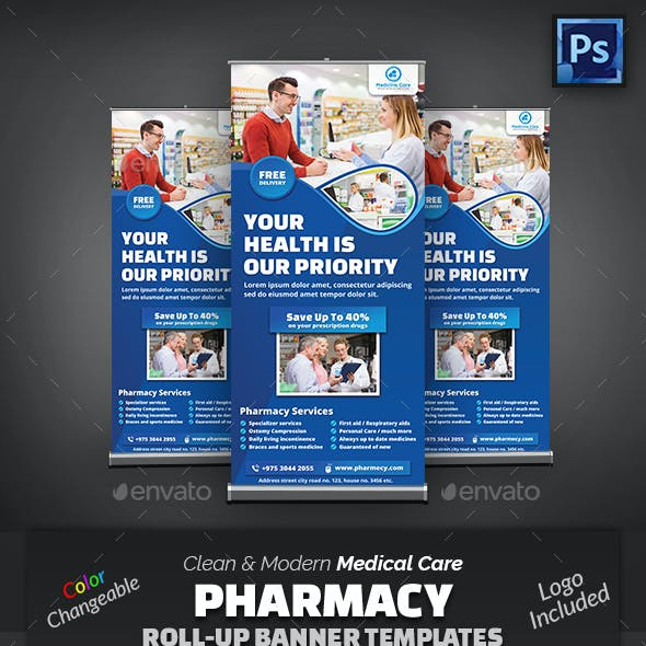 Pharmacy Medical Care Roll-Up Banner