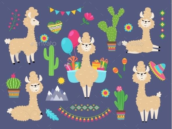 Alpacas - Animals Characters