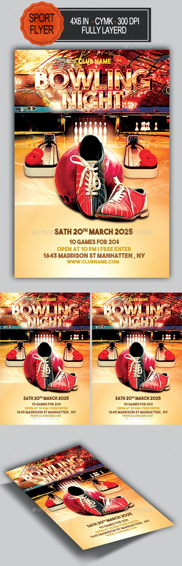 Bowling Flyer - Sports Events