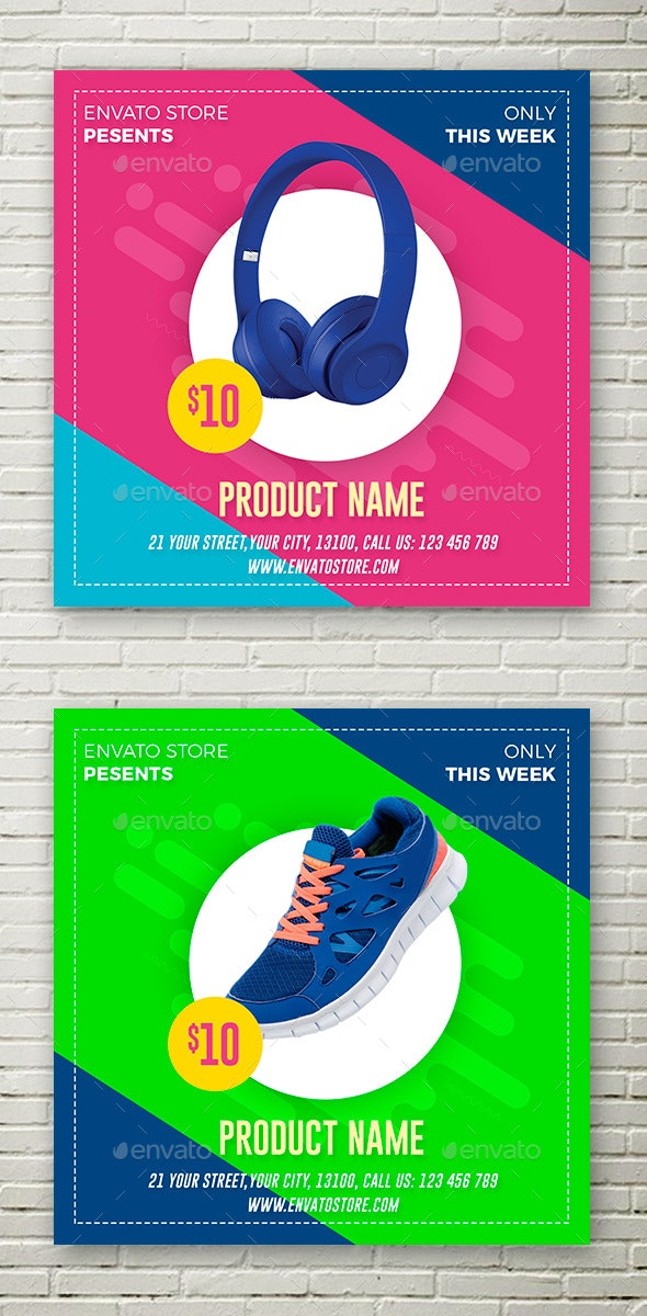 Product Animation Banner - Social Media Web Elements