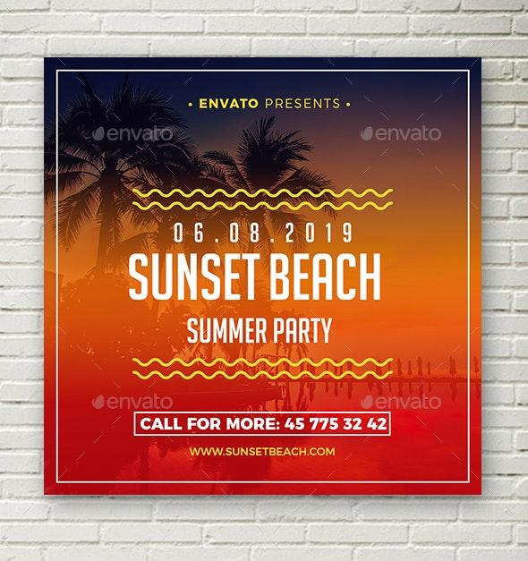 Summer Animation Banner - Social Media Web Elements