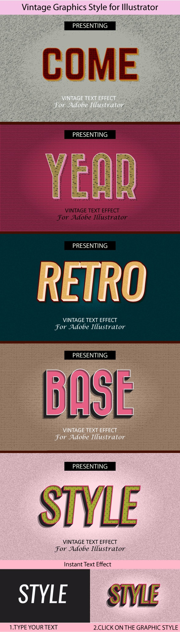 Vintage Graphics Style for Illustrator - Styles Illustrator