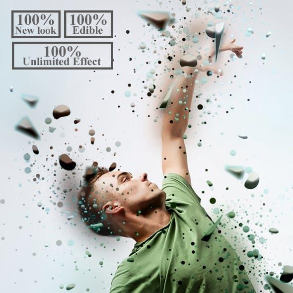 3D Dispersion Photoshop Action