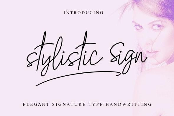 Stylistic Sign - Hand-writing Script