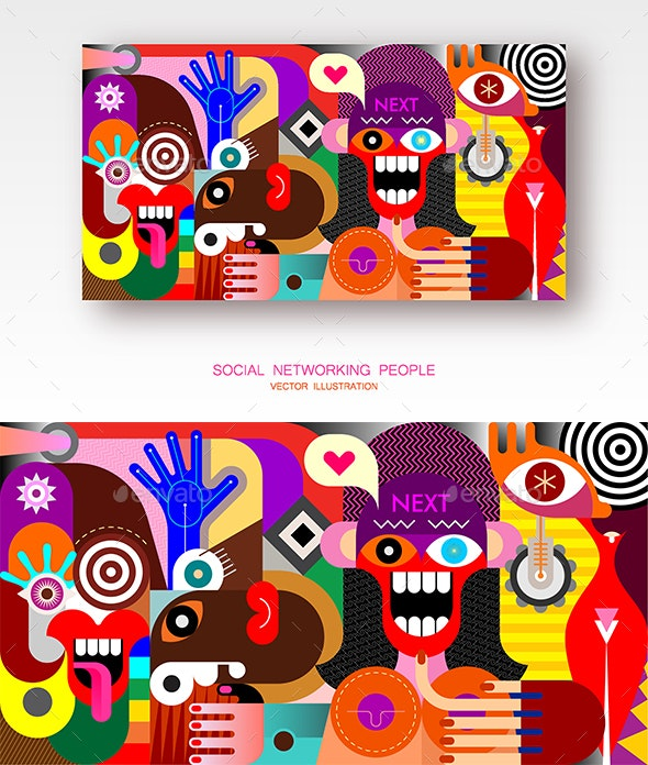Social Networking People - People Characters