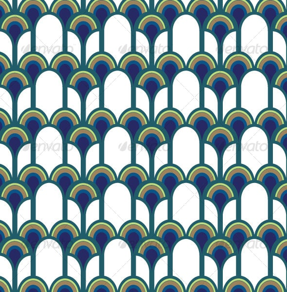 Blue Peacock Pattern - Patterns Decorative