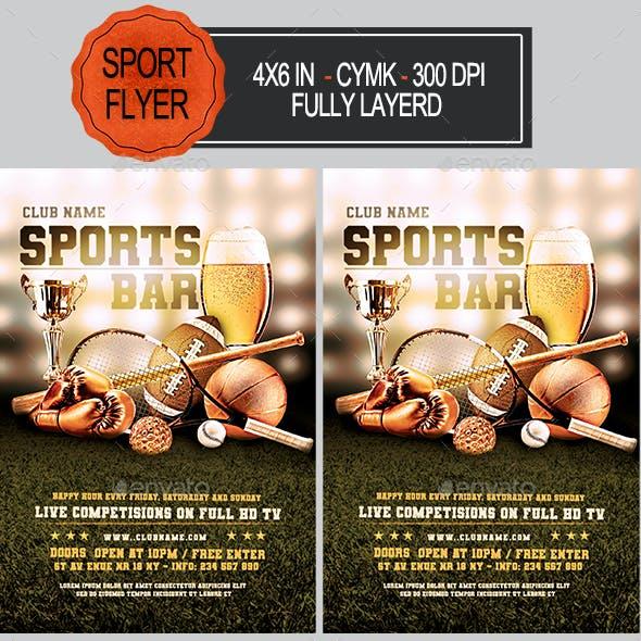 Sports Bar Flyer Template