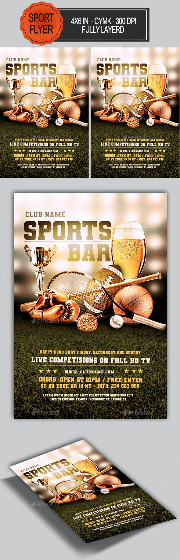 Sports Bar Flyer Template - Sports Events