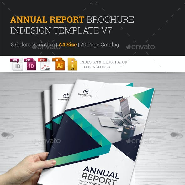Annual Report Brochure Indesign Template v7