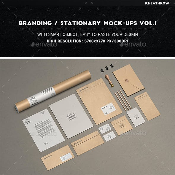 Branding / Stationery Mock-Ups Vol.1