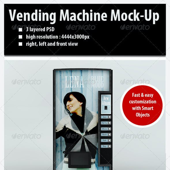 Customizable Vending Machine Mock-Up