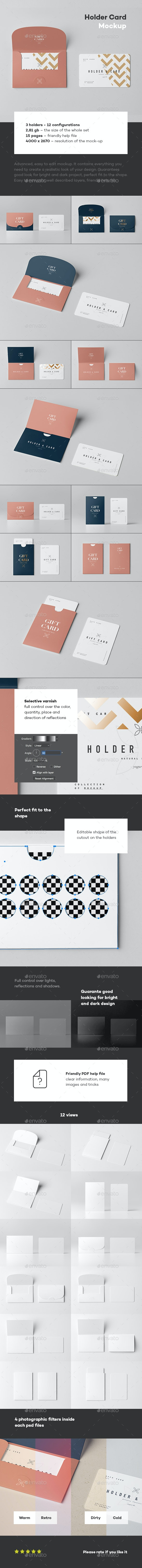 Holder & Card Mock-Up - Business Cards Print