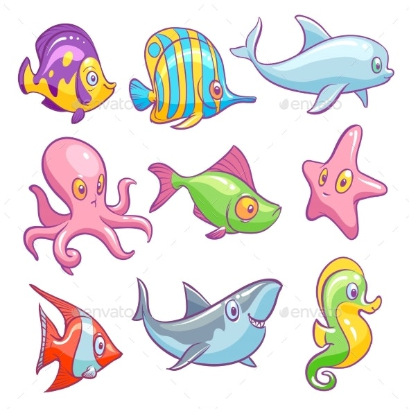 Underwater Animals - Animals Characters