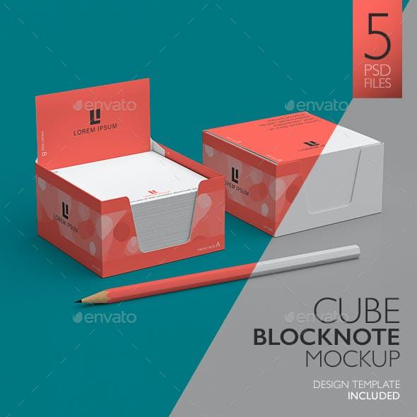 Cube Block Note Mock-Up