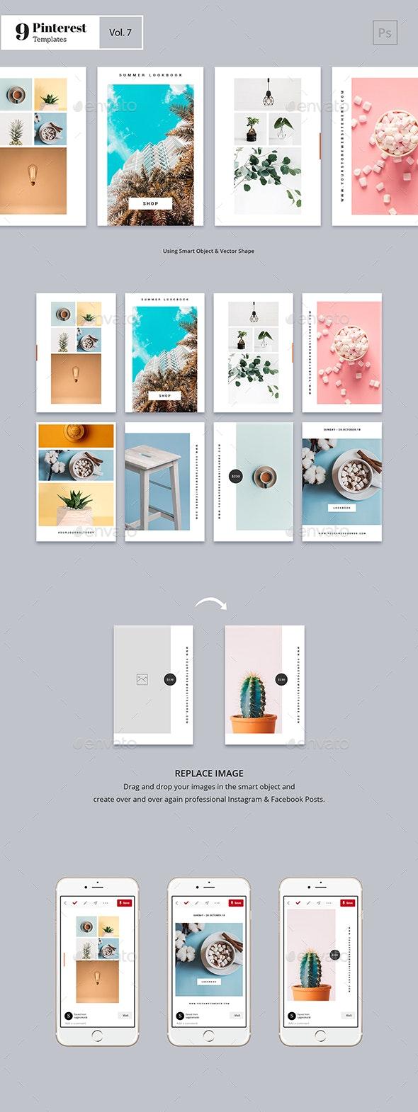 Pinterest Templates Vol. 7 - Social Media Web Elements