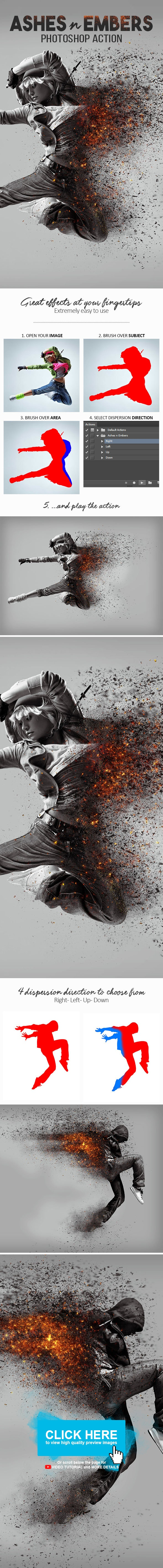 Ashes n Embers Photoshop Action - Photo Effects Actions