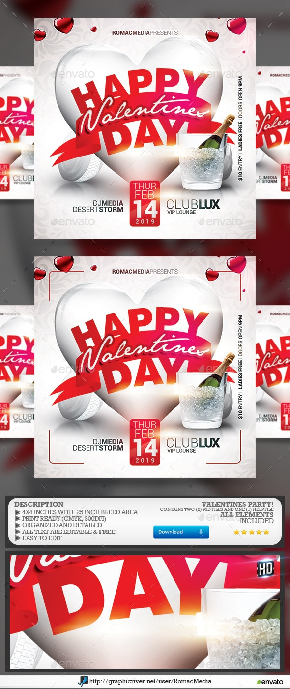 Valentines Flyer - Flyers Print Templates